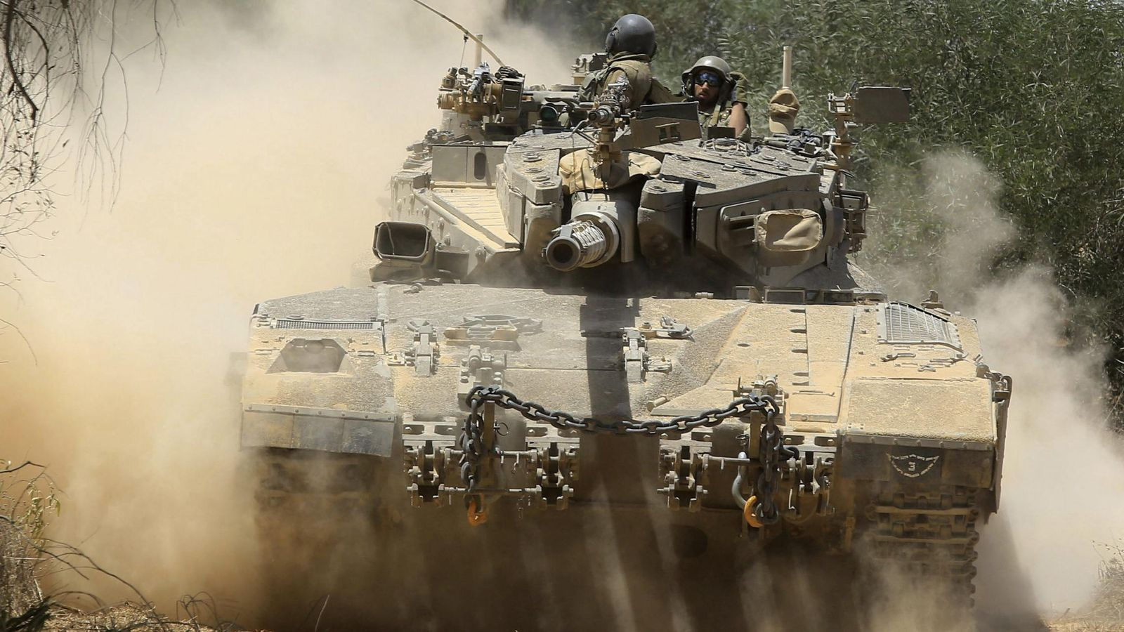 Foto: Tanques israelíes. (EFE)