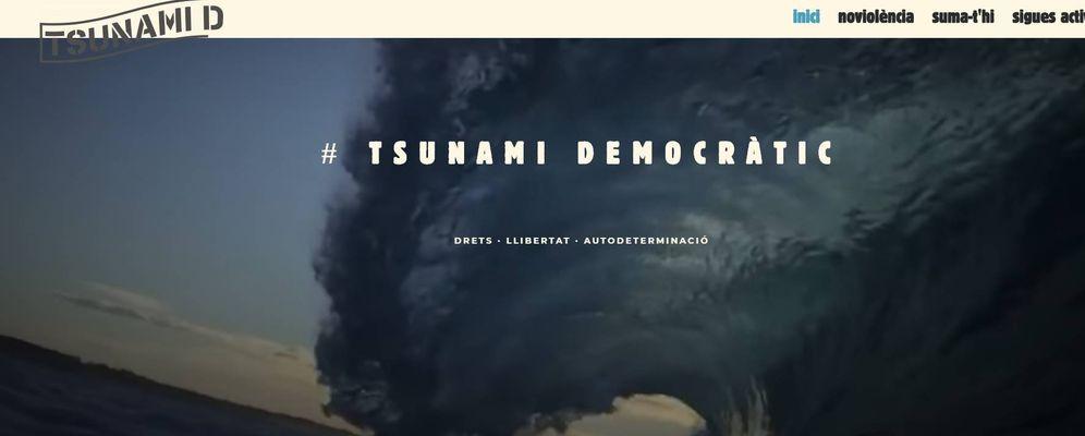 Foto: Captura de la web de Tsunami Democràtic.