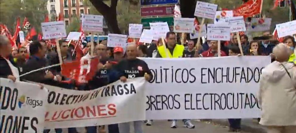 Foto: Trabajadores de Tragsa se manifiestan en Madrid (Atlas)