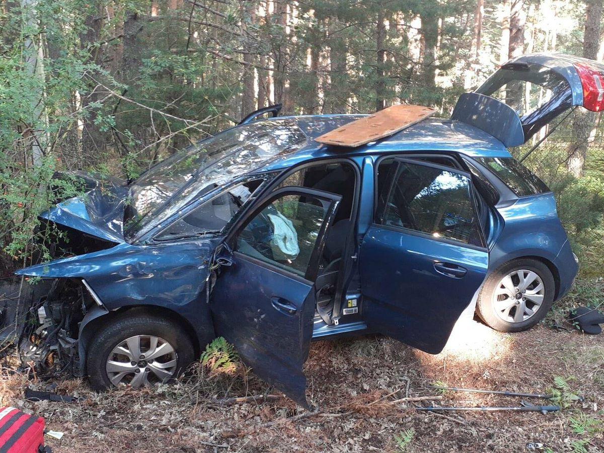Foto: El fallecido había quedado atrapado en el interior del vehículo.(Emergencias 112 Madrid)