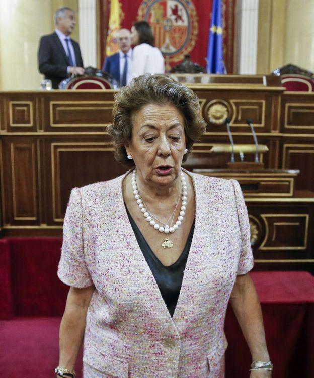 Foto: Rita Barberá, en su vuelta al Senado. (EFE)