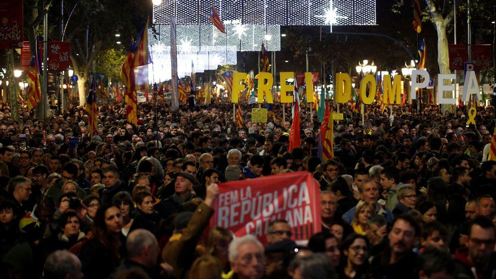Foto: Manifestación unitaria del independentismo. (Reuters)