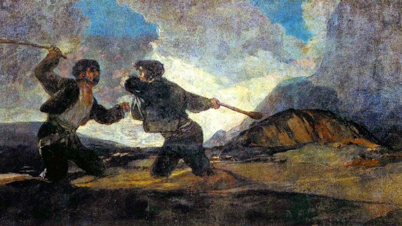 Foto: 'Duelo a garrotazos' de Francisco de Goya.