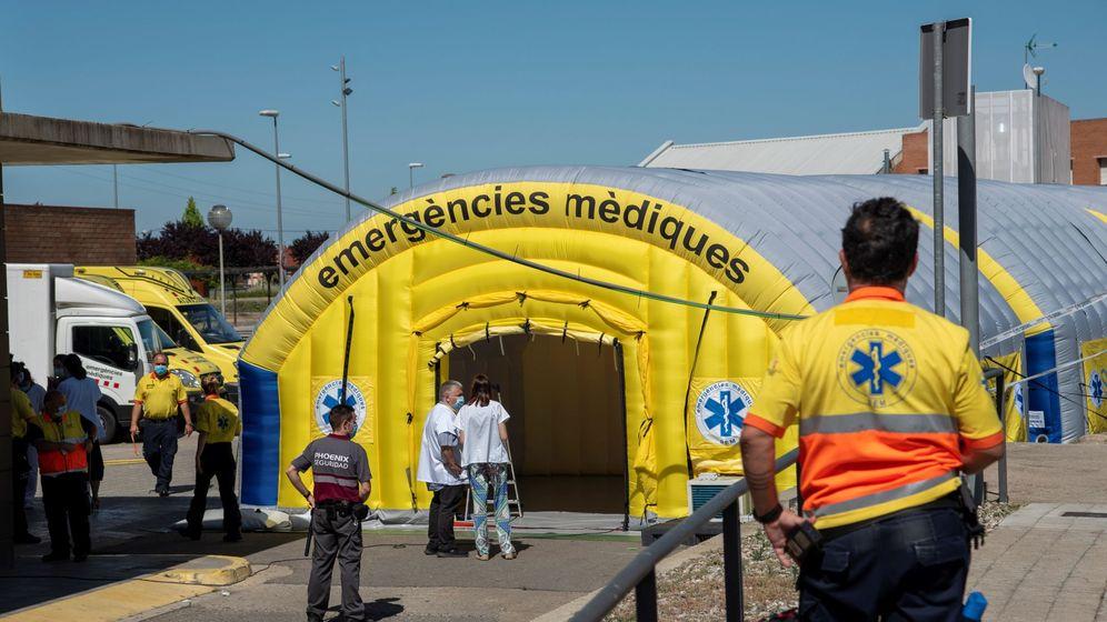 Foto: Hospital de campaña en Lleida.