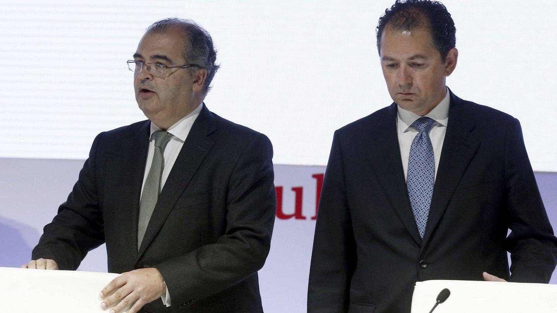 Ángel Ron y Francisco Gómez, entonces presidente y CEO de Popular, en una de sus últimas juntas.