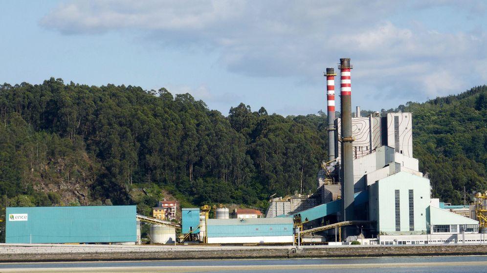Foto: Fabrica de celulosa de Ence en Pontevedra.