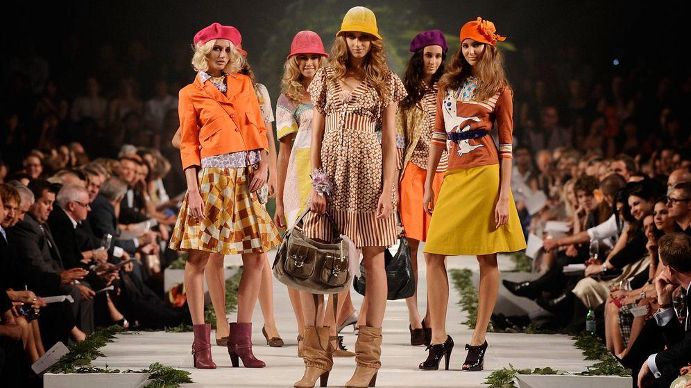 Foto: Pasarela con modelos de Cacharel (Getty)