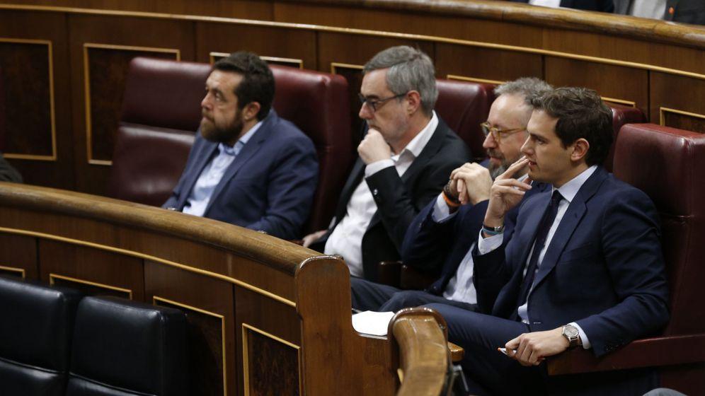 Foto: De izquierda a derecha: Miguel Gutiérrez, José Manuel Villegas, Juan Carlos Girauta y Albert Rivera. (EFE)