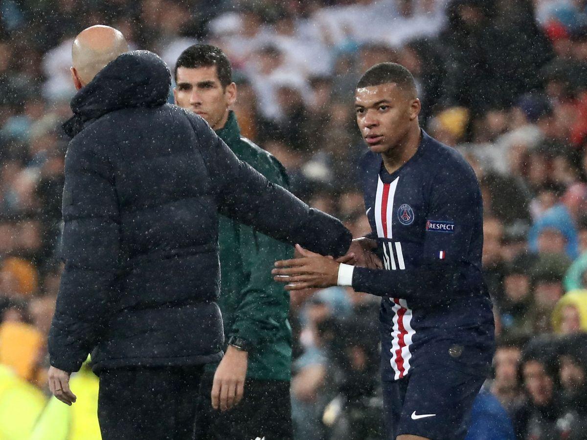 Foto: Zidane y Kylian Mbappe el pasado mes de noviembre en el Bernabéu. (Reuters)