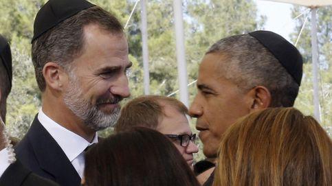 El funeral de Simón Peres reúne a grandes dirigentes: Felipe VI, Obama, Hollande...