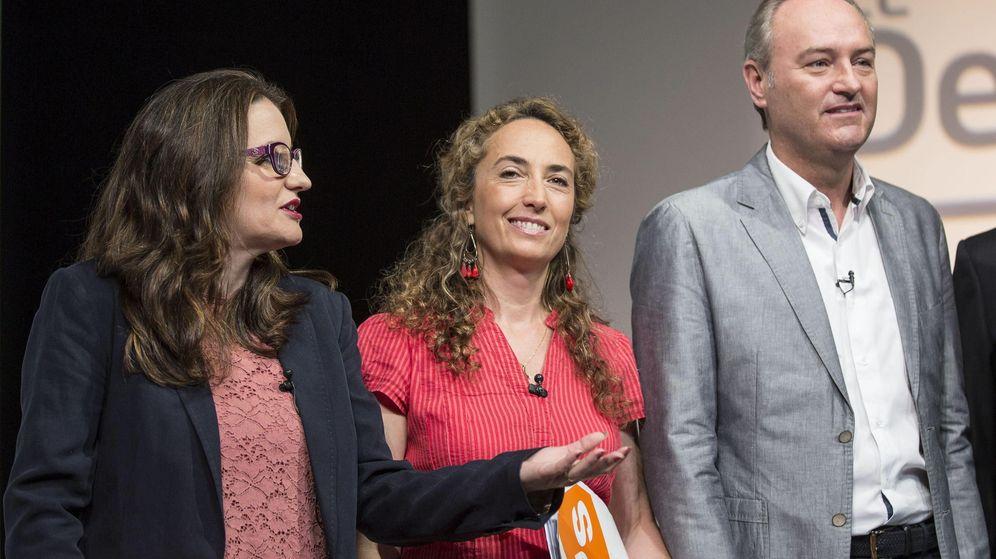 Foto: Mònica Oltra, líder de Compromís (i) junto a Carolina Punset, candidata de Ciudadanos (c) y el presidente del PP valenciano Alberto Fabra (d). (EFE)