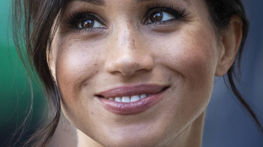 Foto: Meghan Markle en su primera visita a Sussex en 2018. (Getty)