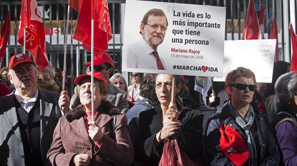 Foto: Manifestación contra el aborto en Madrid. (EFE)