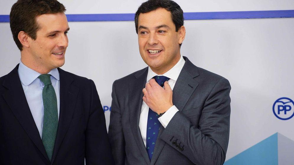 Foto: Pablo Casado junto a Juan Manuel Moreno Bonilla en una foto de archivo. (EFE)