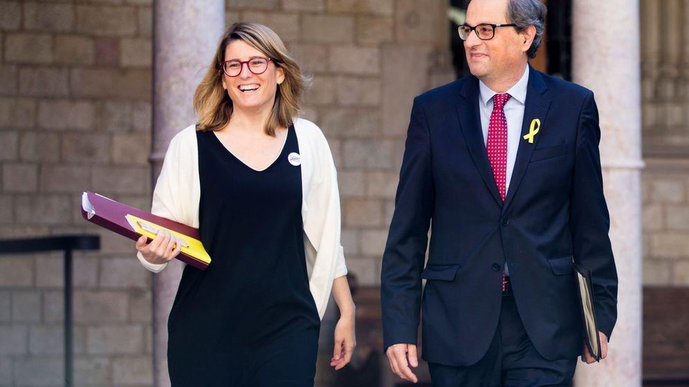 Foto: Elsa Artadi junto a Quim Torra en Barcelona. (EFE)