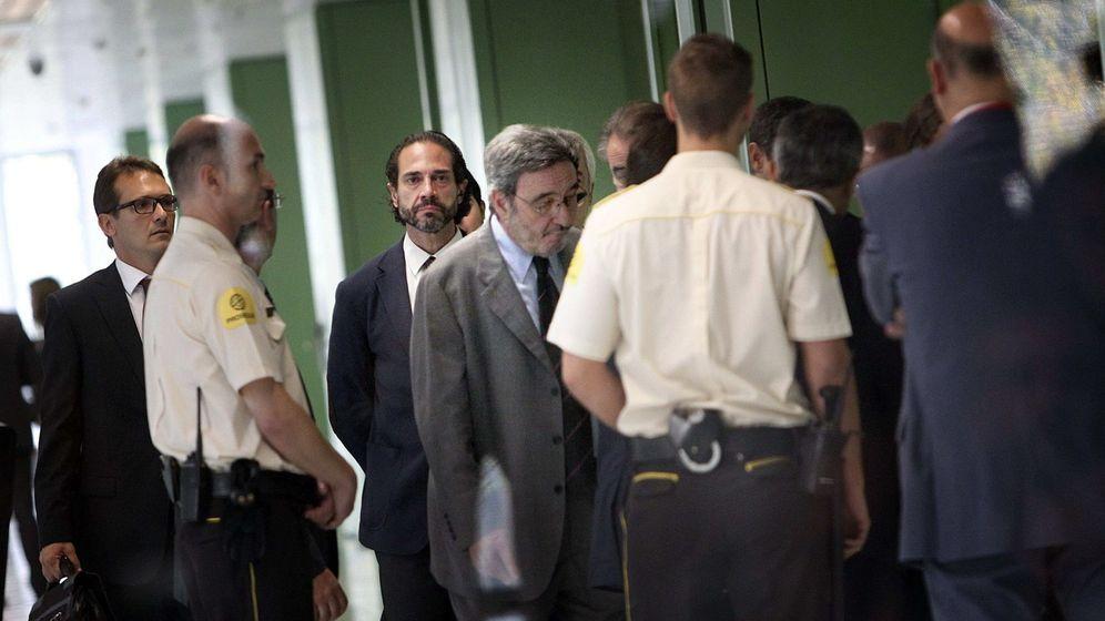 Foto: Imagen de archivo de Narcís Serra al declarar por los sobresueldos. (EFE)