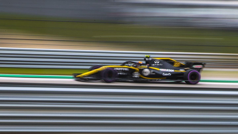 Carlos Sainz durante la clasificación del GP de Estados Unidos. (Reuters)