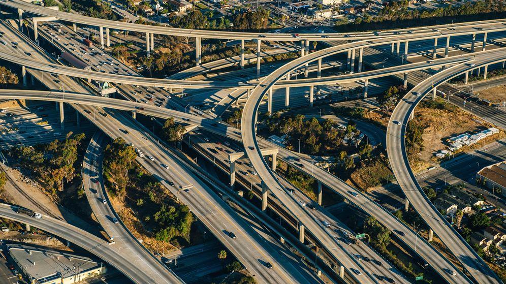 Foto: Cruce de carreteras en Los Angeles, California
