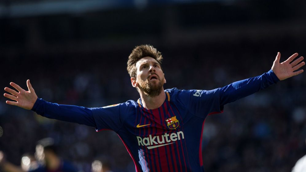 Foto: Leo Messi celebra un gol. (EFE)