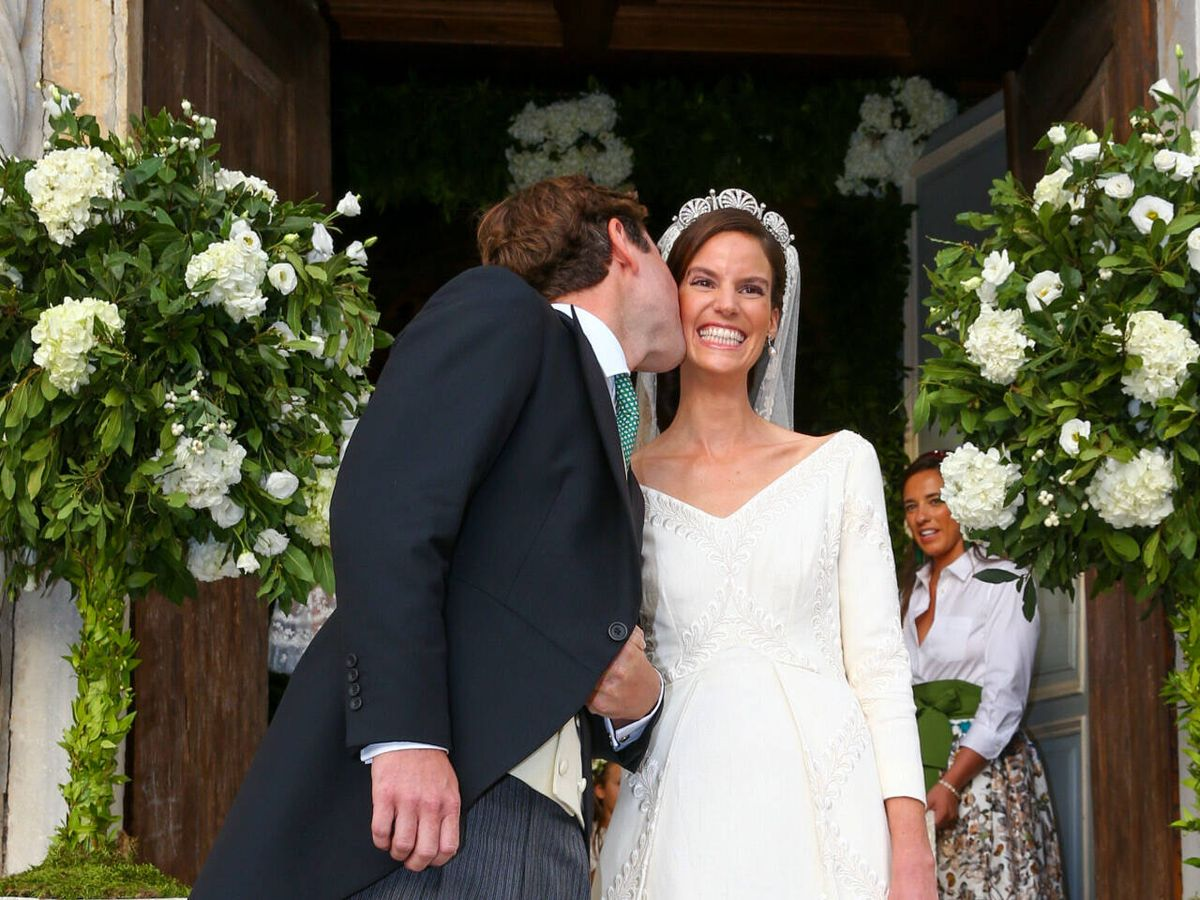 Foto: Astrid de Liechtenstein y Ralph Worthington, en su boda. (Gtres)
