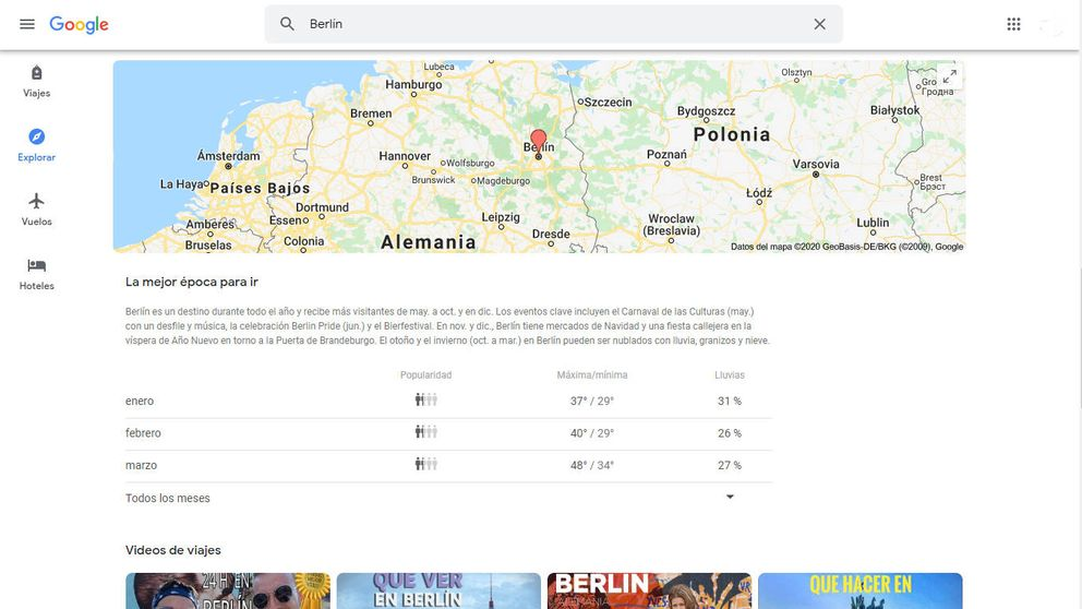 Google ya te dice cuál es el mejor mes para viajar a cada destino