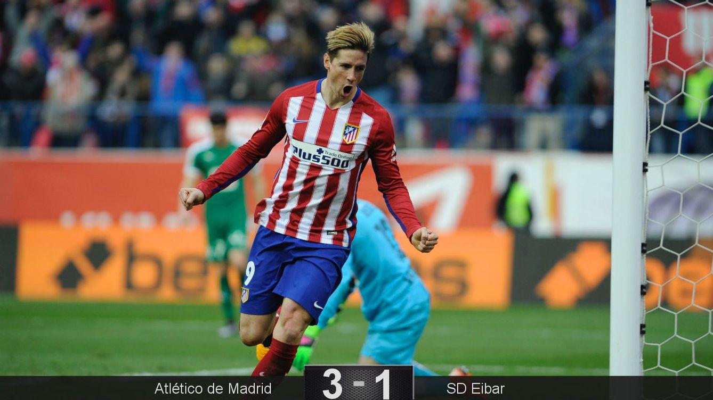 Foto: Tardó en llegar, pero Torres marcó su gol 100, y otra vez al Eibar (Cordon Press).