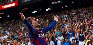 Post de El confeti de Griezmann, lo único que sobró en la goleada del Barcelona al Betis