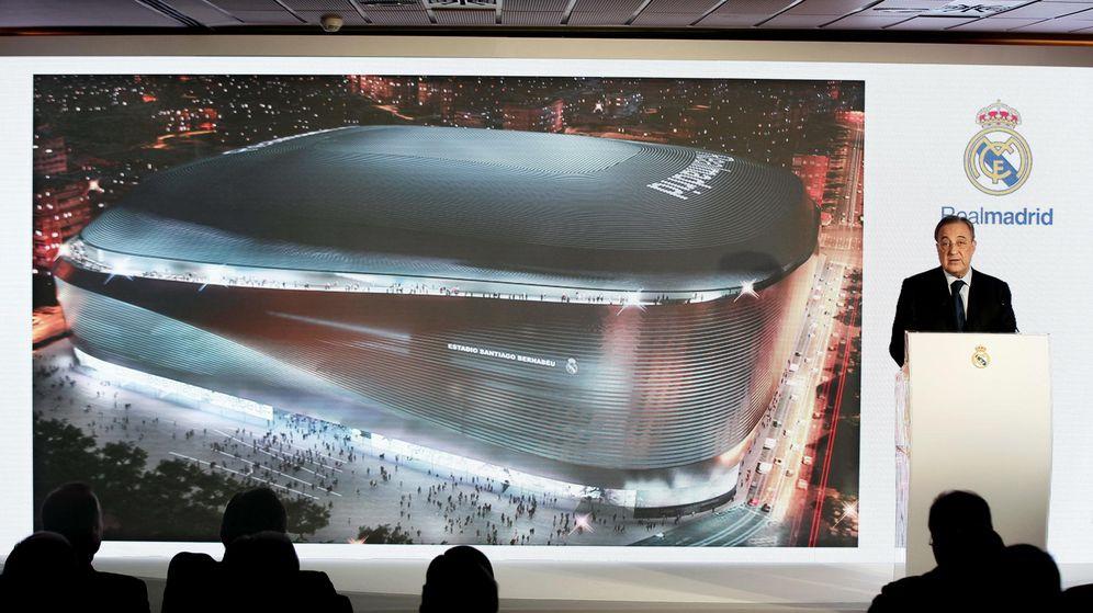 Foto: Florentino, en la presentación de la reforma del estadio. (EFE)