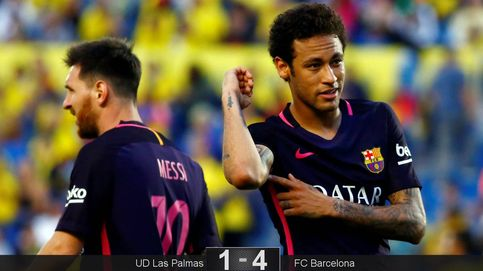 Las Palmas - Barcelona: Un 'hat-trick' de Neymar mantiene el pulso por la Liga