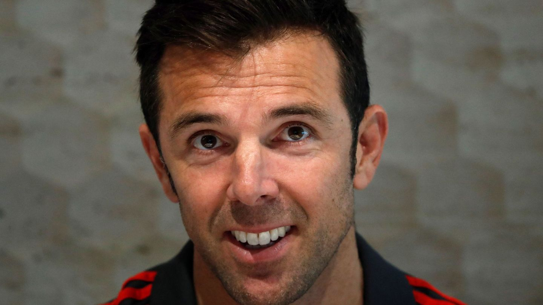 Carlos Marchena, que formó parte del cuerpo técnico de la Selección en el Mundial, trabaja junto a Caparrós en el Sevilla. (EFE)