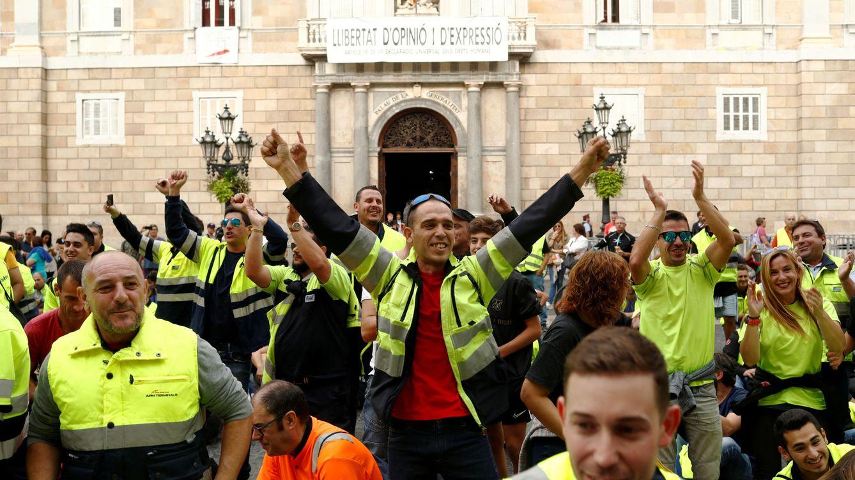 La llegada de las marchas corta los principales accesos y paraliza Barcelona
