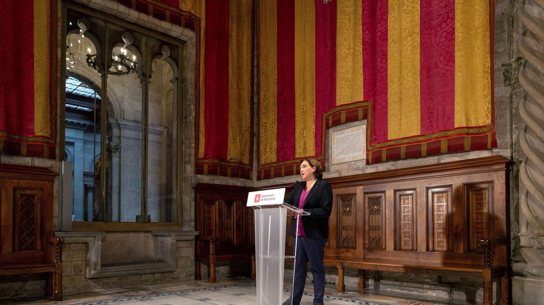 Foto: Ada Colau, durante una declaración institucional el pasado mes de octubre. (EFE)