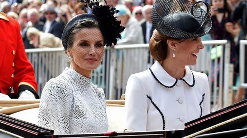 La reina Letizia y Kate Middleton, juntas en la carroza y en buena sintonía
