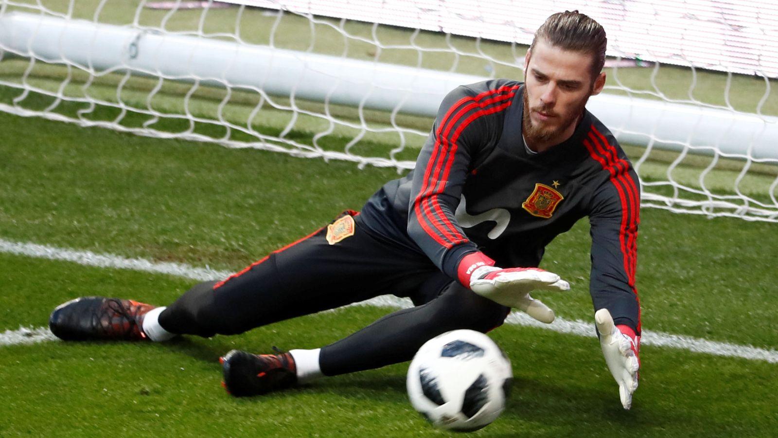 Foto: David de Gea, en un entrenamiento de la selección. (EFE)