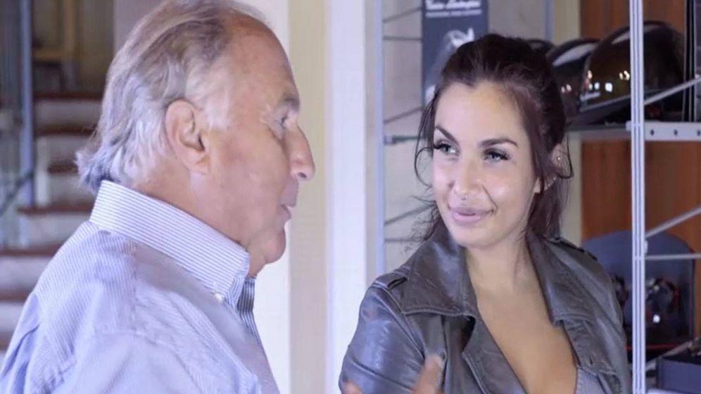 Foto: Elettra Lamborghini y su padre en 'Riccanza'