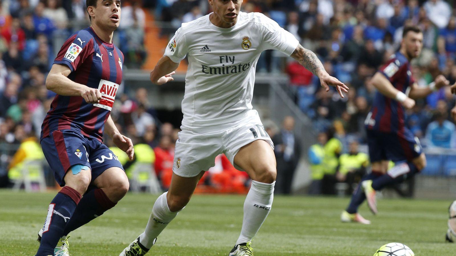 Foto: James Rodríguez, durante el Real Madrid-Eibar de la pasada temporada (EFE)
