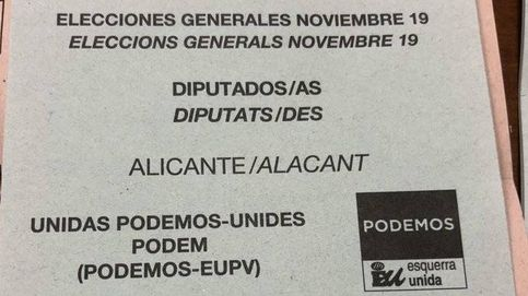 ¿Son válidas las papeletas en las que pone 'Noviembre 19'? Sí, con ellas se puede votar