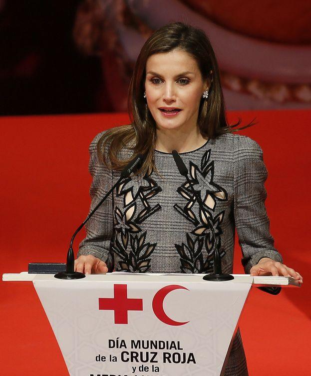 Foto: La Reina Letizia durante su discurso. (EFE)