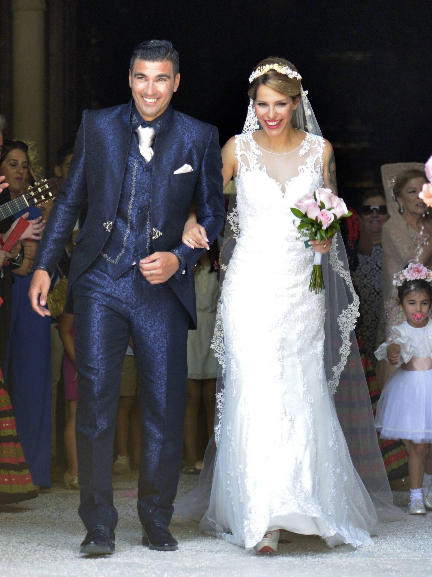 José Antonio Reyes y Noelia López, el día de su boda. (Cordon Press)