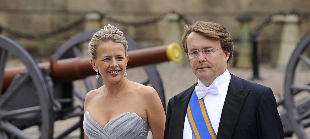 Foto: Friso junto a su esposa Mabel en la boda de Victoria de Suecia