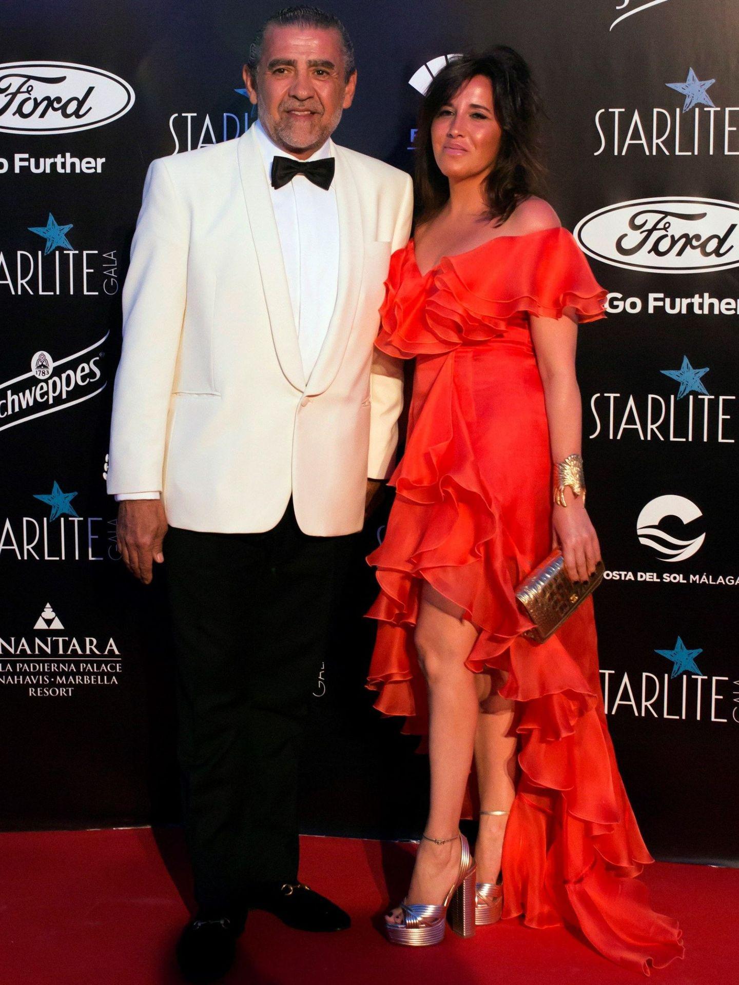 Jaime Martínez-Bordiú y Marta, a su llegada a Starlite. (EFE)