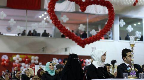 Boda colectiva palestina en Turquía