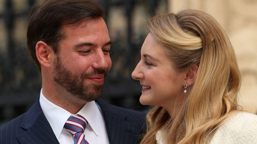 Foto: Guillermo y Stéphanie de Luxemburgo, en una imagen de archivo. (Getty)