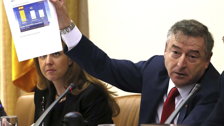 Foto: Comparecencia de José Antonio Sánchez, este jueves en el Congreso (EFE).