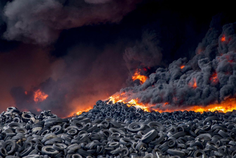 Foto: El incendio del vertedero de neumáticos de Seseña (Toledo), en imágenes