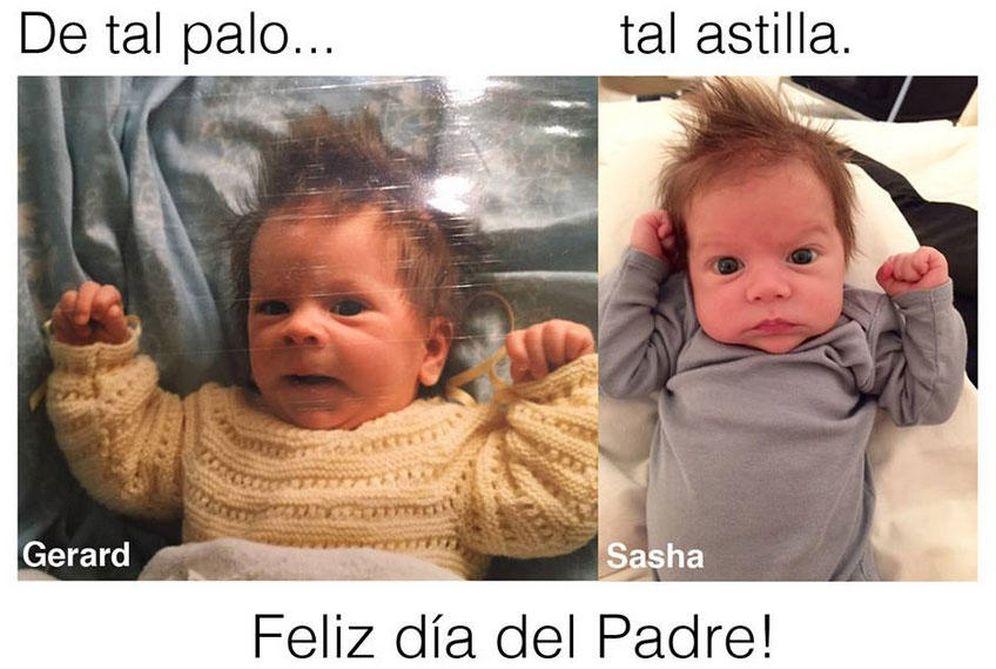 "Foto: Twitter - Sasha Piqué Mebarak y su padre, ""de tal palo, tal astilla"""