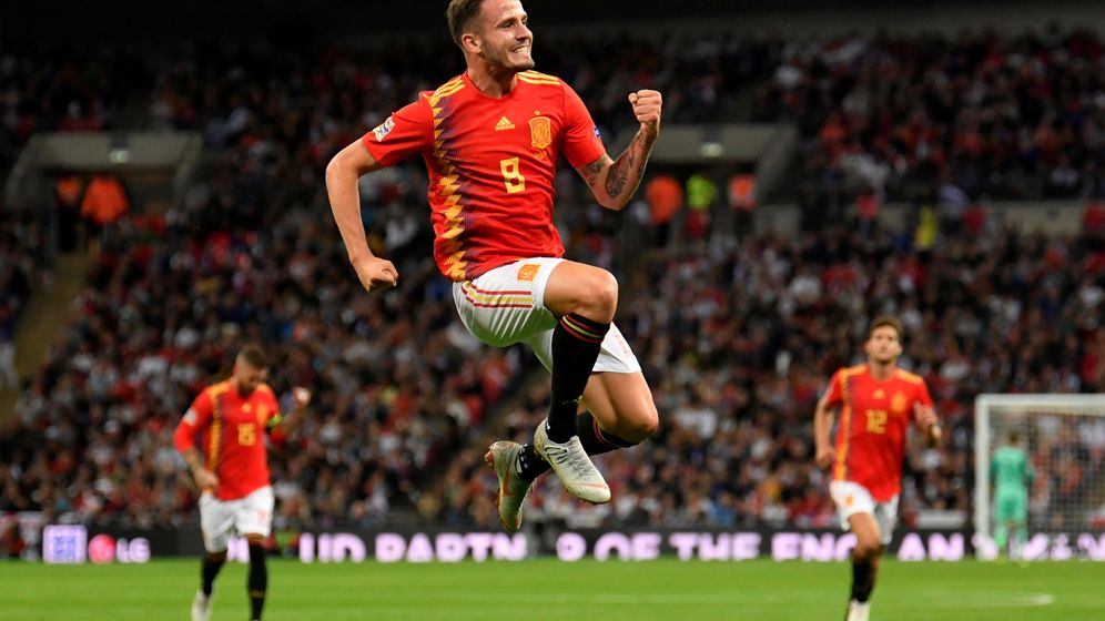 Foto: Saúl celebra su primer gol en la UEFA Nations League (Reuters)