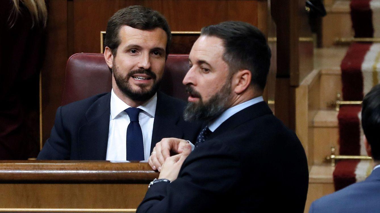 Foto: Pablo Casado y Santiago Abascal. (EFE)