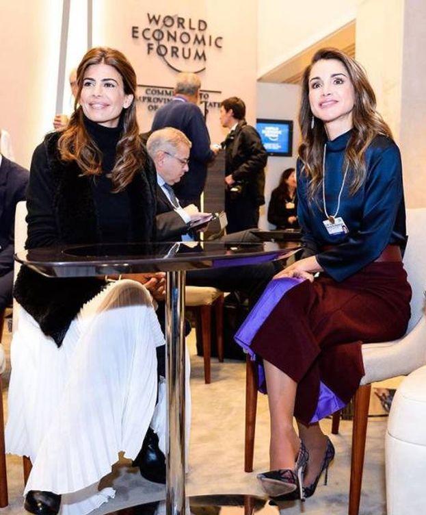 Foto: Rania de Jordania y Juliana Awada en Davos. (Instagram)