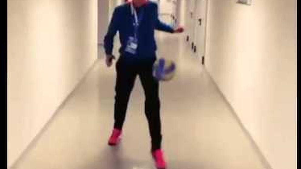 Garbiñe Muguruza, tenista y también futbolista